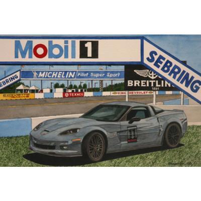 Corvette Carbon Edition At Sebring, Fine Art Print By Dana Forrester, 11x17