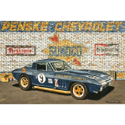 Corvette Just Before Sebring, Fine Art Print By Dana Forrester, 11x17