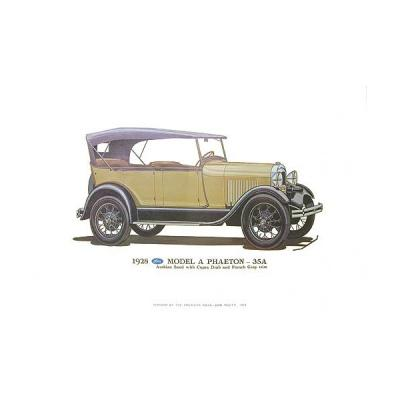 Model A Print - 1928 Ford Phaeton (35A) - 12 X 18 - Unframed