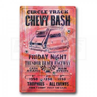 Circle Track Chevy Bash, Friday Night, Metal Poster