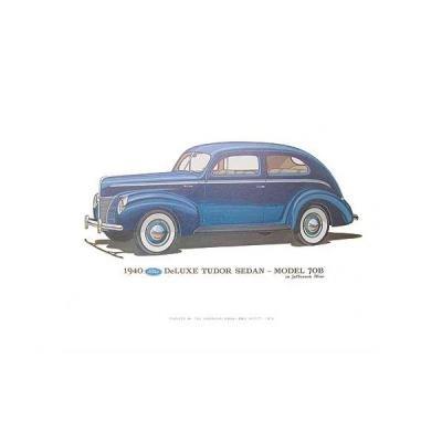 Print - 1940 Ford Deluxe Tudor Sedan (70B) - 12 X 18 - Unframed