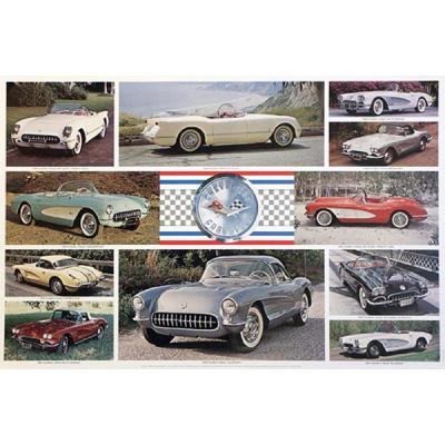 Corvette C1 1953-1962 Poster