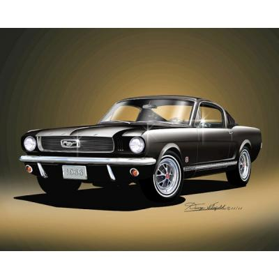 Mustang GT 2+2 Fine Art Print By Danny Whitfield, 1966