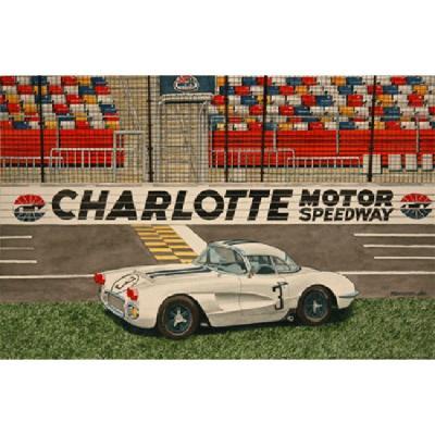 Corvette Charlotte And LeMans, Fine Art Print By Dana Forrester, 11x17