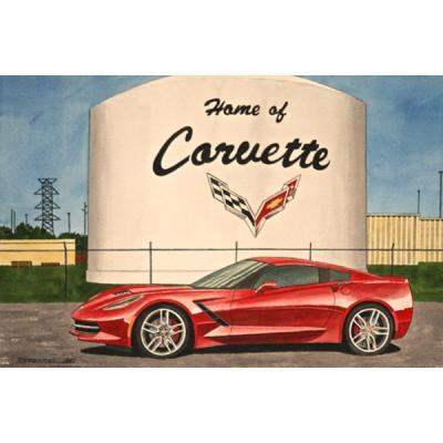 Corvette Origin Of The Species, Fine Art Print By Dana Forrester, 11x17