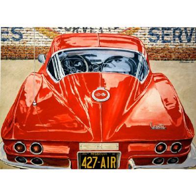 Corvette Sting Ray Reflections, Fine Art Print By Dana Forrester, 11x17