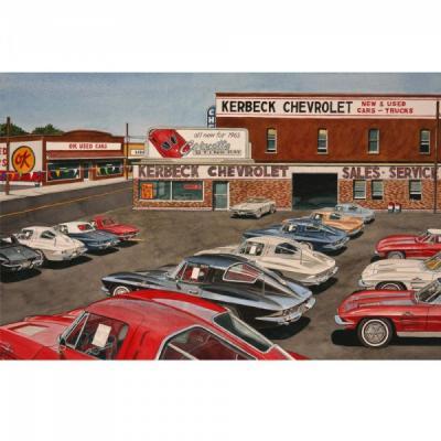Corvette Splits, Fine Art Print By Dana Forrester, 11x17