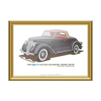 Print - 1936 Ford Roadster (68-710) - 12 X 18 - Framed