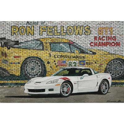 Corvette Good Fellows, Fine Art Print By Dana Forrester, 11x17