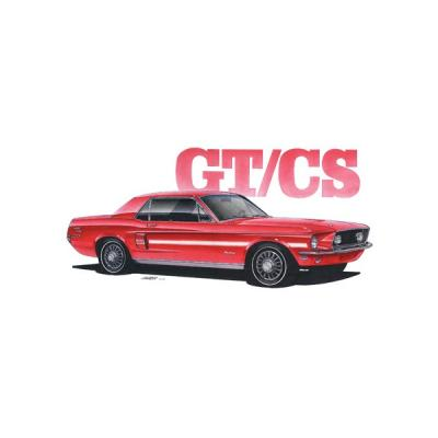 Limited Edition Print, Mustang, GT/CS, Red, 1968