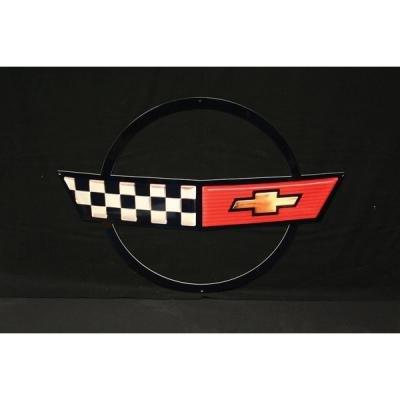 Corvette Metal Sign, 1984-1990
