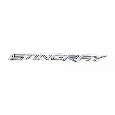 "Corvette Metal Sign, C7 Stingray Script 18"" X 2"""