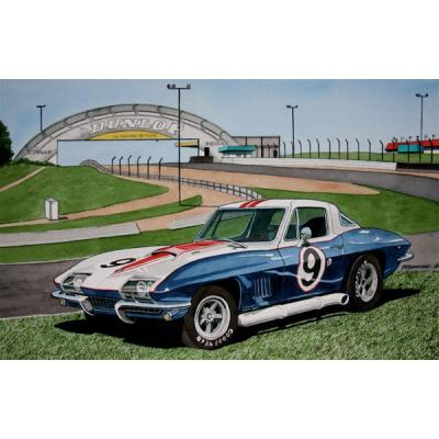 Corvette 40 Years After, Fine Art Print By Dana Forrester, 11x17
