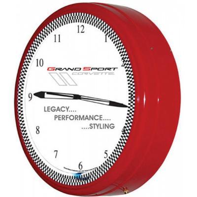 """Corvette Clock, Neon, 20"""" Grand Sport"""