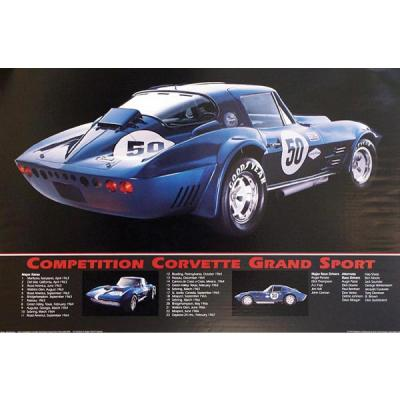Corvette Competition Grand Sport Corvette Poster