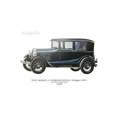 Model A Print - 1929 Ford Fordor Briggs Sedan (60A) - 11 X 14 - Unframed