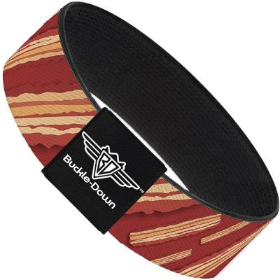 Buckle-Down Elastic Bracelet - Bacon Slices Red