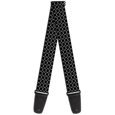 Guitar Strap - Fishnet Stocking Black/White