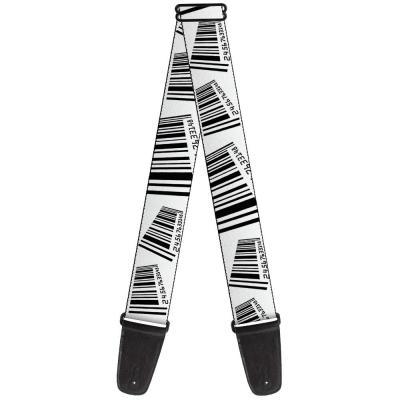 Guitar Strap - Barcode