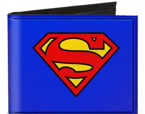 Canvas Bi-Fold Wallet - Superman Blue