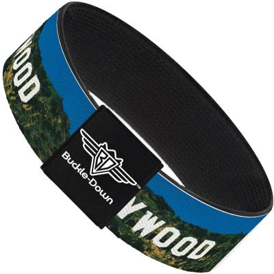Buckle-Down Elastic Bracelet - Vivid HOLLYWOOD Sign