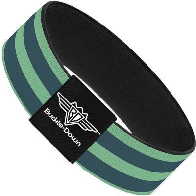 Buckle-Down Elastic Bracelet - Stripes Pastel Green/Olive