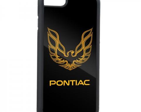 Rubber Cell Phone Case - BLACK - Firebird PONTIAC Logo FCG Black/Golds