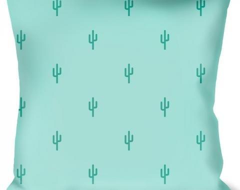 Buckle-Down Throw Pillow - Cacti1 Aqua Blues