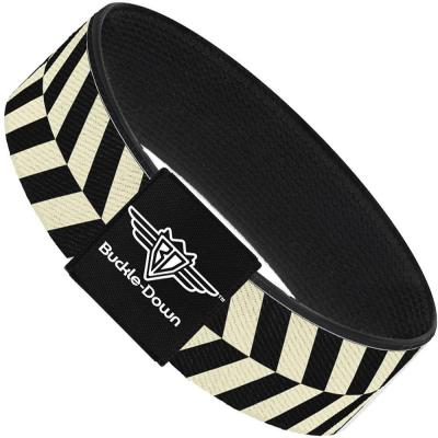 Buckle-Down Elastic Bracelet - Rhombus Split White/Black