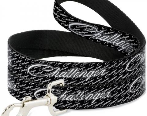 Dog Leash CHALLENGER Repeat w/Text Black/White