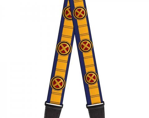 MARVEL X-MEN  Guitar Strap - X-Men Cyclops Utility Strap Blue/Gold/Black/Red