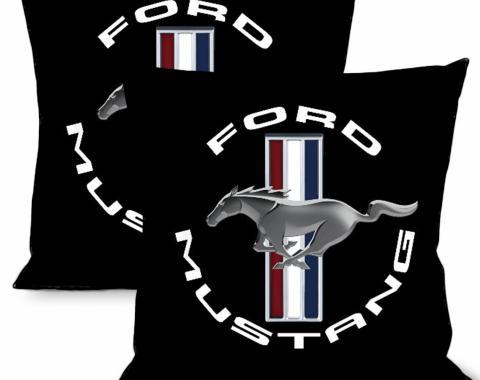 Throw Pillow - Round Mustang Logo