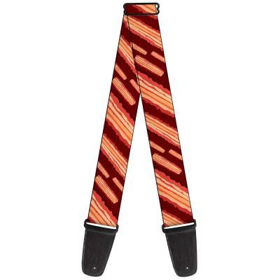 Guitar Strap - Bacon Slices Maroon