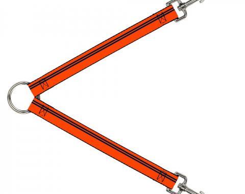 Dog Leash Splitter - Racing Stripe Orange/Navy