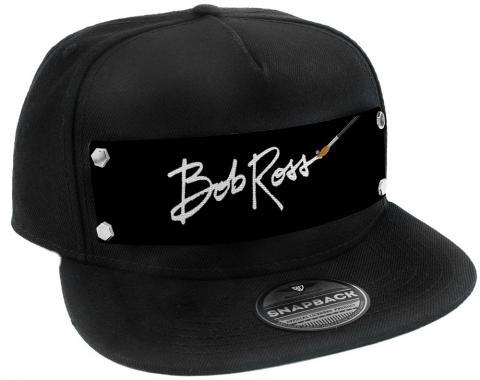 Embellishment Trucker Hat BLACK - Bob Ross Logo White/Black