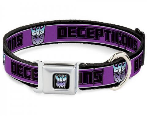 Dog Collar TFJ-Transformers Decepticon Logo Black/Blue Fade - DECEPTICONS/Logo Stripe Black/Gray/Purple