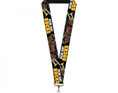 """Lanyard - 1.0"""" - The New Day Group Pose/NEW DAY ROCKS Black/White/Red/Yellow"""