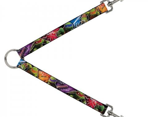 Dog Leash Splitter - TMNT New Series Character Action Pose CLOSE-UP Multi Color