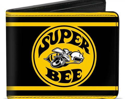 Bi-Fold Wallet - SUPER BEE Logo/Stripes Black/Yellow