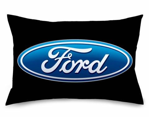 Pillowcase - STANDARD - Ford Oval Logo Black/Blue