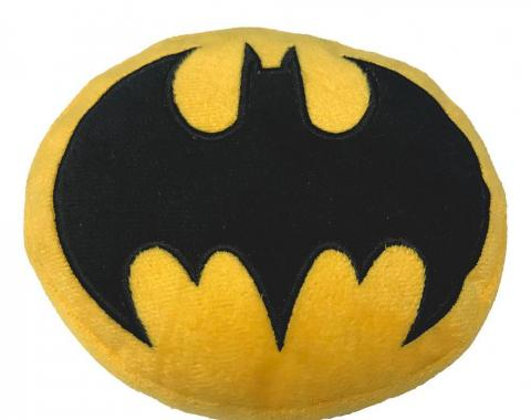 DTPT-BMDV  Dog Toy Squeaky Plush - Batman Bat Icon Yellow/Black