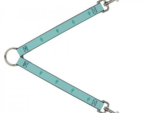 Dog Leash Splitter - Cacti1 Aqua Blues