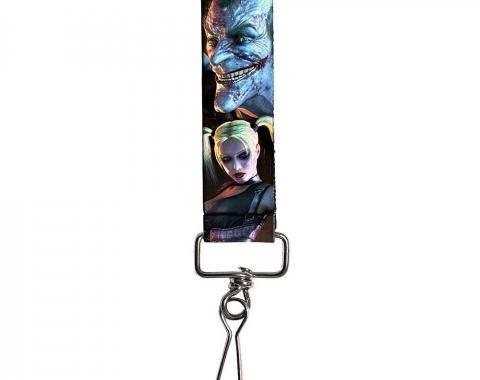"Key Fob - 1.0"" - Arkham City Harley Quinn Pose & Joker Face"