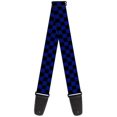 Guitar Strap - Checker Black/Blue
