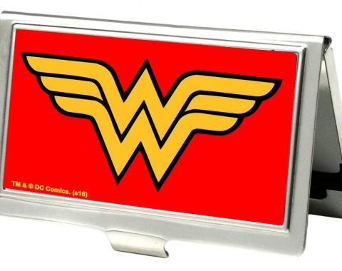 Business Card Holder - SMALL - Wonder Woman Logo FCG Red