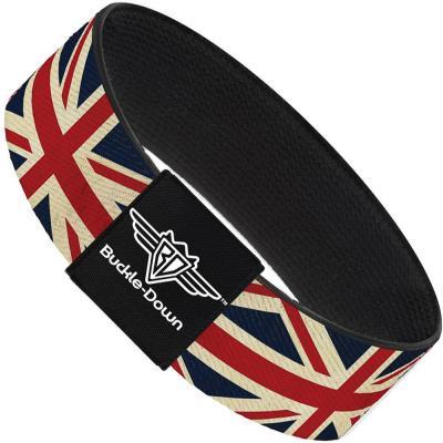Buckle-Down Elastic Bracelet - Vintage United Kingdom Flags