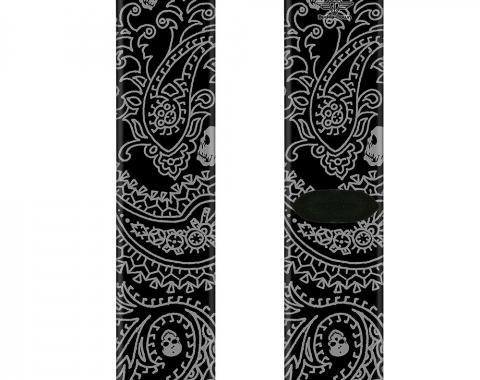 Sock Pair - Polyester - Bandana/Skulls Black/Silver - CREW