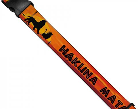 Luggage Strap - Lion King HAKUNA MATATA Sunset Oranges/Black