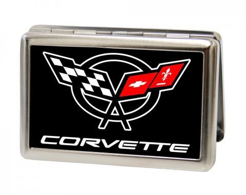 Business Card Holder - LARGE - Corvette FCG Black/White/Red