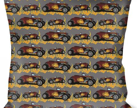 Buckle-Down Throw Pillow - Hot Rod w/Flames